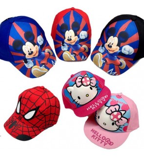 Cartoon Themed Kids Snapback Cap with Adjustable  Strap