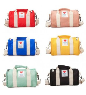High Grade Korean Fashion Canvas Small Duffel Sling Bag