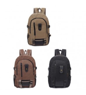 Korean Canvas Laptop Backpack