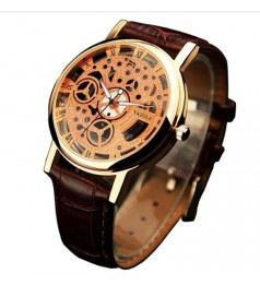 Unisex Business Watches With PU Leather Strap