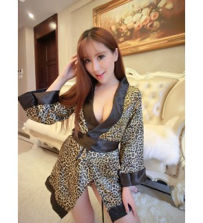 Leopard Design Sleepwear Robe