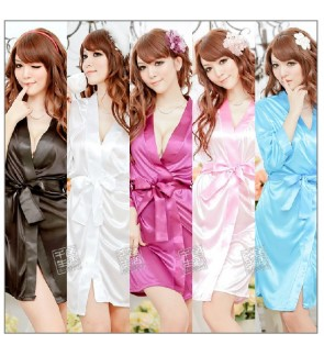 Soft Silky Lingerie Nightwear Robe
