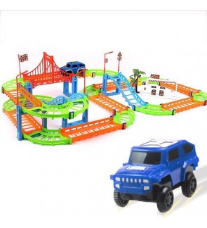 Kids Dual Layer Spiral Track Electric Toy Car