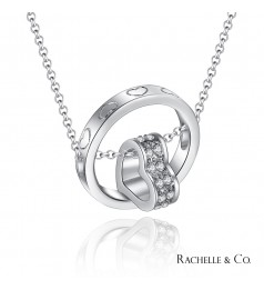 Rachelle & Co Double Love Pendant and Necklace Set