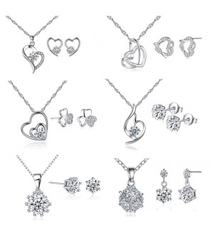 Magical Love Series Silver Plated Necklace with Free Box