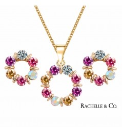 Rachelle & Co Crystal Necklace and Earring Set (D2)