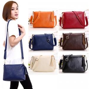 Tonyamall Multicoloured PU Leather Ladies Travel Sling Bag