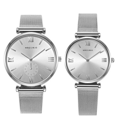 MREURIO OUMIYA StainlessSteel Couple Watch