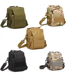 TonyaMall Army Tactical 3 ways Use Mini Waist Bag