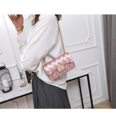 TonyaMall Exclusive Woven Pattern Jelly Silicone Sling Bag