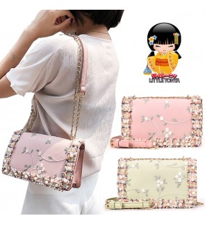 TonyaMall Floral & Beads Ladies Handbag / Sling Bag