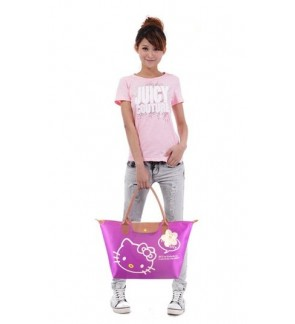 Fun Colorful Fashion Hello Kitty Foldable Tote Bag