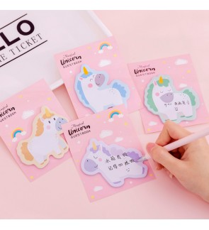 [MalaysiaReadyStock] Set of 4 Unicorn Sticky Note Memo Pad