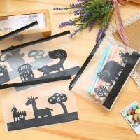Animal PVC Transparent Pencil Case / Stationary Pouch