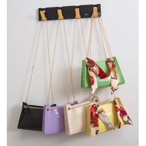 TonyaMall 5 Colours Croc Design French Scarf Ladies Sling /Shoulder Bag
