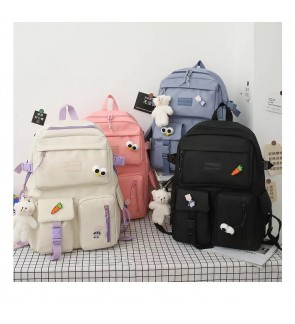 TonyaMall 4 Pieces Mix and Match Ulzzang Korean Style Backpack Set