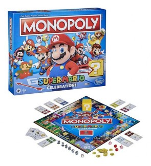 Hasbro Monopoly Super Mario Celebration Original Set Family Fun Boardgame