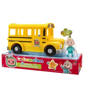 CoComelon Official Musical Yellow School Bus With Musics and JJ Figurine