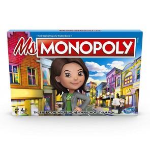 Hasbro Monopoly Ms.Monopoly Board Game Original Monopoly Family Board Game