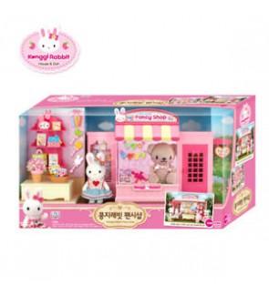 Original Korea Konggi Rabbit Fancy Gift Doll Stationery Shop Store Dollhouse Roleplay Playset