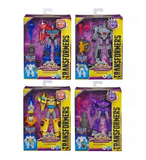 Hasbro Transformers Cyberverse Deluxe Class Optimus Prime Bumblebee Shockwave Megatron