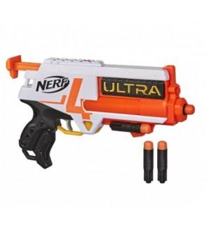 Nerf Ultra Four Dart Blaster 4 Nerf Ultra Darts Single-Shot Blasting, 2-Dart Storage