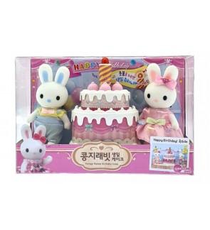 Original Korea Konggi Rabbit Birthday Cake Playset with Light and Music