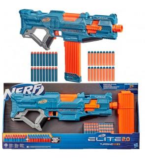 Hasbro Nerf Elite 2.0 Turbine CS-18 Motorized Blaster With 36 Darts, 18-Dart Clip
