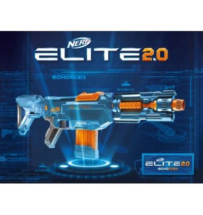 Hasbro Nerf Elite 2.0 Echo CS-10 Blaster - 24 Official Darts, 10-Dart Clip