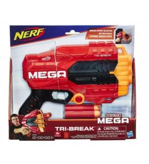 Hasbro Nerf Mega Tri-Break Blaster - Break Open Barrel To Load Darts - 3-Dart Capacity